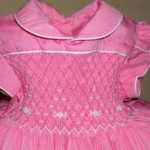 Vestido Infantil Marrom e Rosa casinha de abelha