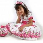 vestido rosa bebe floral