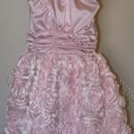 vestido rosa bebe infantil com flores aplicadas