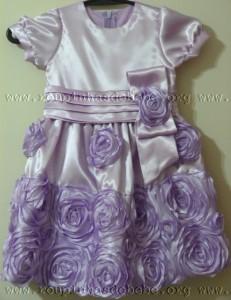 vestido infantil marrom e rosa versao lilas