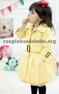 casacos infantil amarelo para meninas