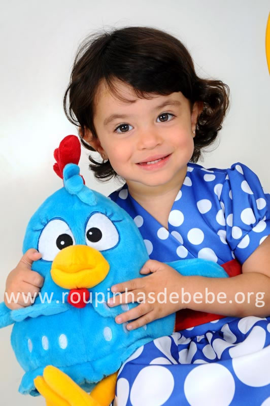 vestido da galinha pintadinha para festa infantil