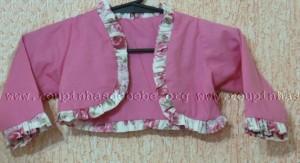 bolero infantil rosa