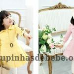 moda infantil inverno amarelo e rosa