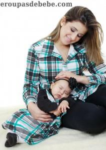 moda mae e filha xadrez