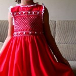 vestido de bebe vermelho belissimo