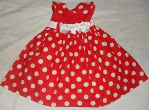 vestido de bebe vermelho charmoso
