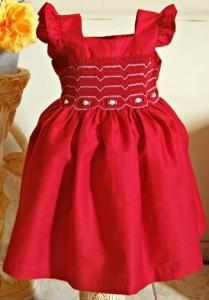 vestido de bebe vermelho elegante