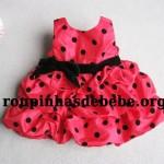 vestido de bebe vermelho importado