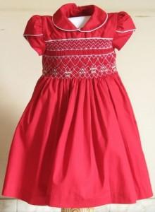 vestido de bebe vermelho luxo