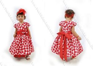 vestido de bebe vermelho poa bolinhas