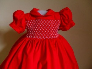 vestido de bebe vermelho princesa