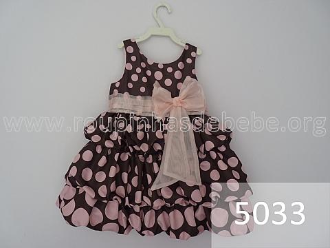 vestido marrom e rosa balone