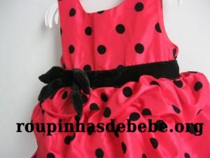 vestido minnie poa vermelho