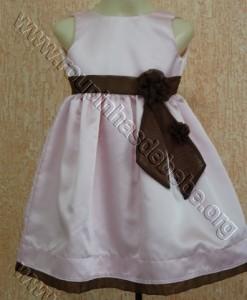 vestido rosa bebe com laco