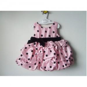vestido rosa com preto