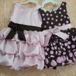 vestidos rosa e marrom P1080831