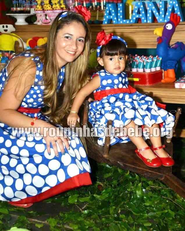 vestido galinha pintadinha para mae e filha