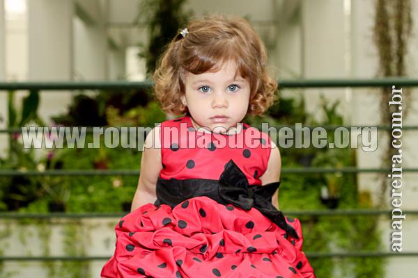 vestido infantil joaninha