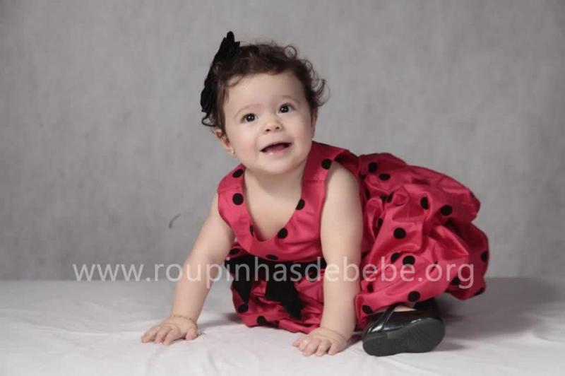 vestido infantil para festa da joaninha