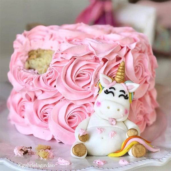 ideias de bolo de unicórnio
