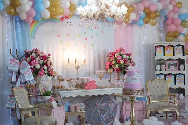Tema de aniversário de 1 ano feminino