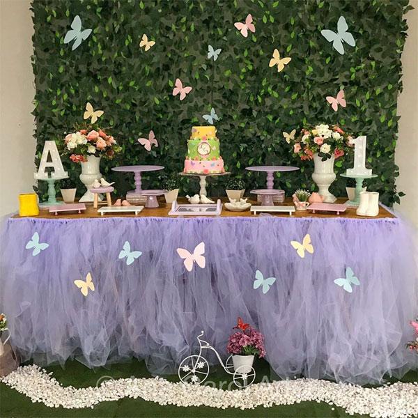 festa borboletas 1 ano