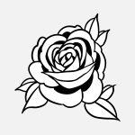 Flor rosa para pintar