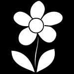 Flor simples para pintar