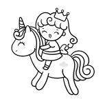 A princesa e o unicórnio para colorir