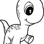 Baby Dinossauro para colorir