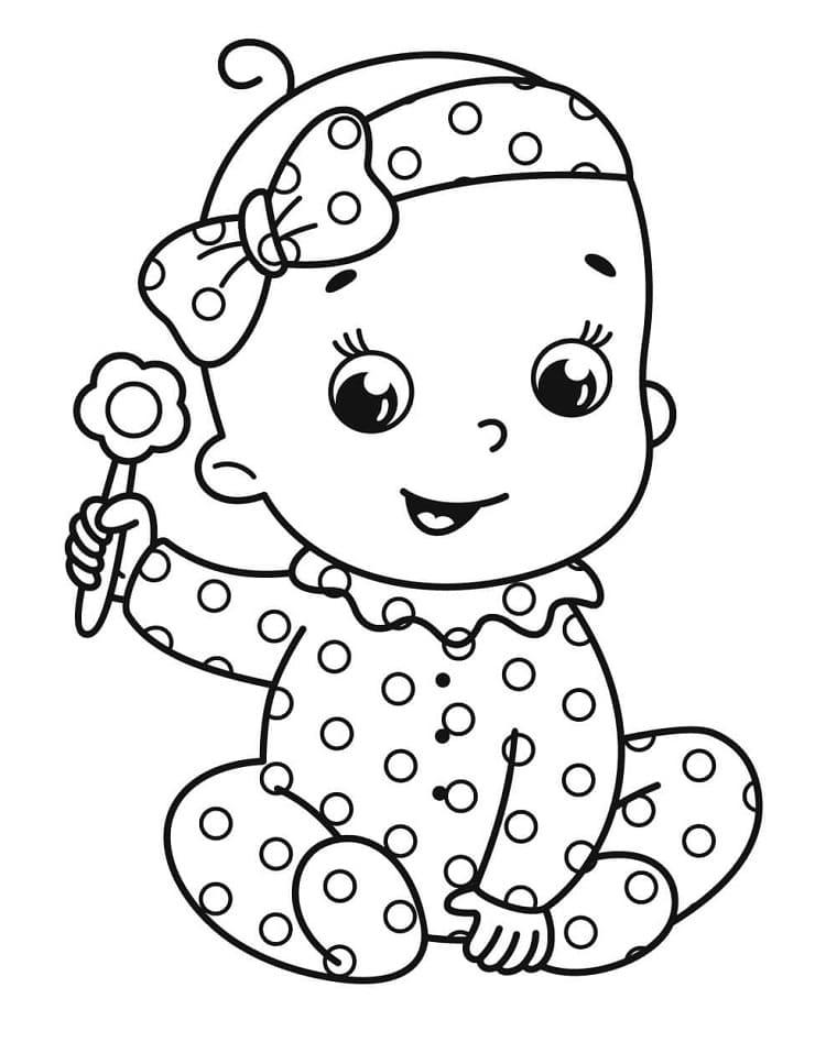 Bebê brincando para pintar
