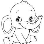 Bebê elefante para colorir