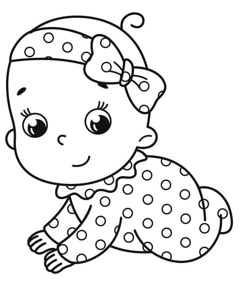Bebê lindo para colorir