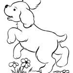 Cachorrinho para colorir e pintar