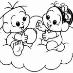 Cebolinha e Mônica na nuvem
