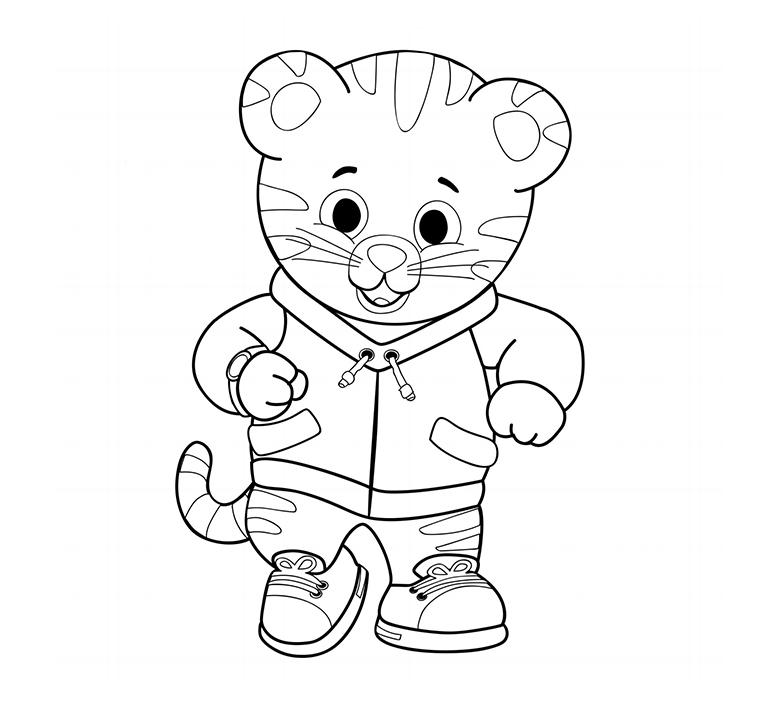 Daniel o Tigre para colorir