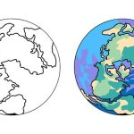 Desenho para colorir da terra