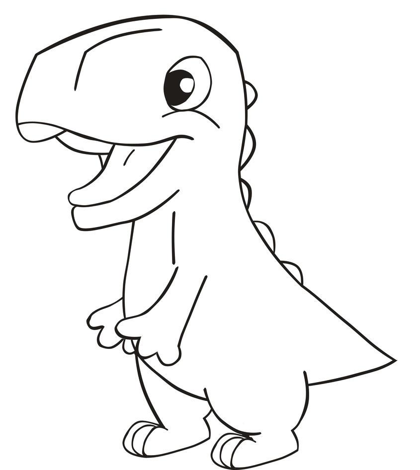 Dinossauro baby para pintar