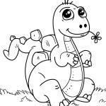 Dinossauro bebê para colorir