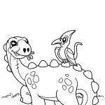 Dinossauro e seu amigo