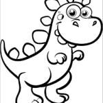 Dinossauro esperto para colorir