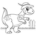 Dinossauro fashion para pintar