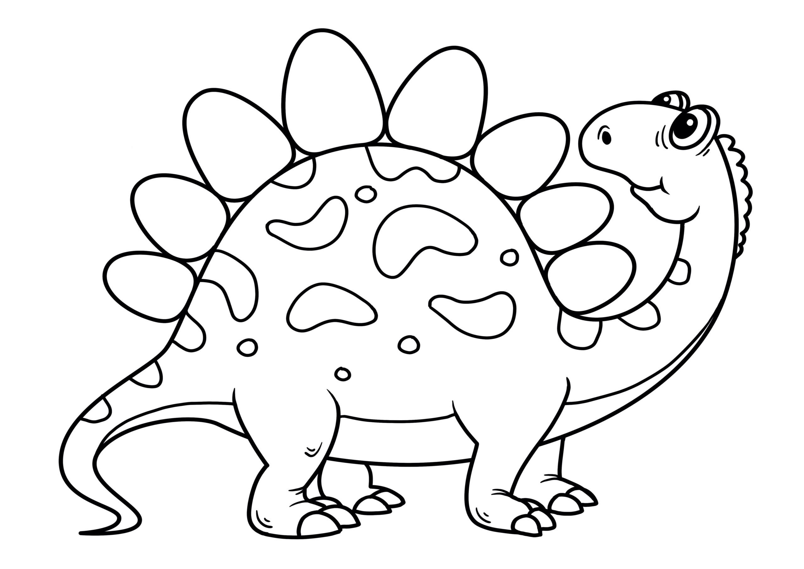 Dinossauro feliz para imprimir