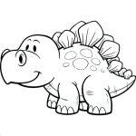 Dinossauro fofo para pintar