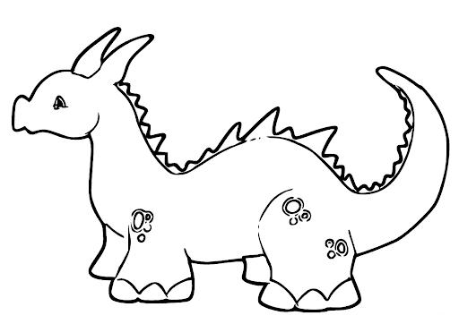 Dinossauro para pintar