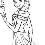 Elsa para colorir