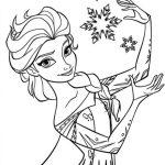 Elsa para imprimir e colorir