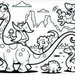 Desenhos para colorir de dinossauro