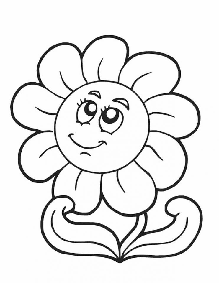 Linda flor para colorir